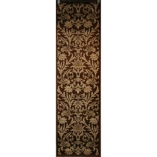 Damask Brown Rug (2'3 x 7'7)
