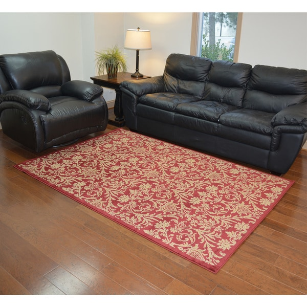 Damask Red Rug (7'10 x 9'10)