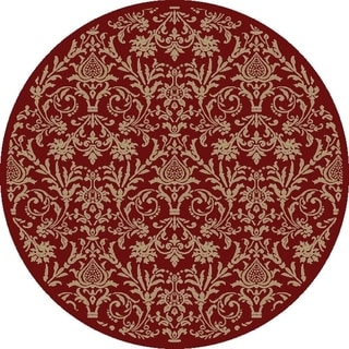 Damask Red Rug (5'3 Round)