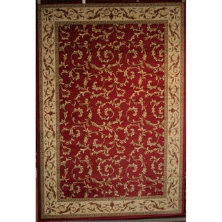 Machine -Made Juliette Collection Ivy Red Polypropylene Rug (5'3 x 7'7)