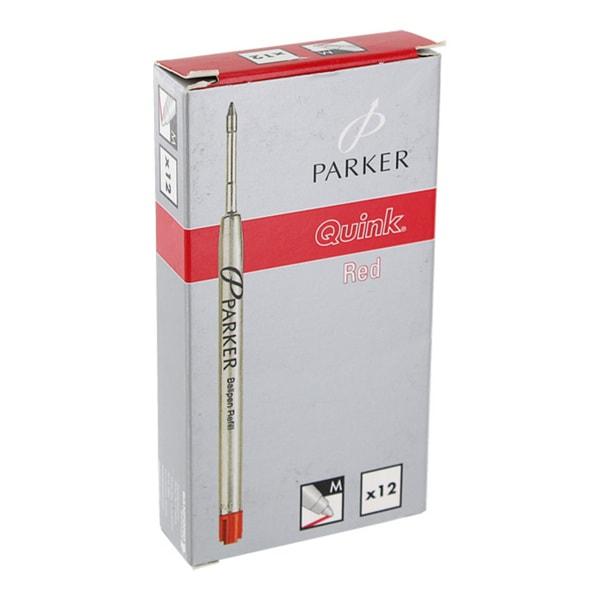 Parker Red Medium Point Ball Point Pen Refills (Pack of 12)