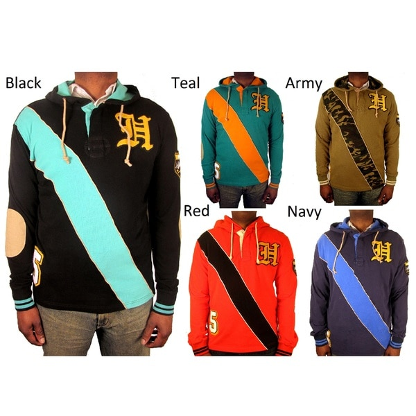 Hudson Outerwear Men's Big and Tall Rugby Hoodie