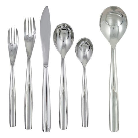 Ginkgo Charlie 42-piece Stainless Steel Flatware Set (Service for 8)