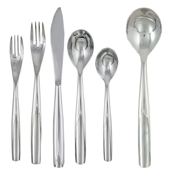 Ginkgo Charlie 42-Piece Stainless Steel Flatware Set
