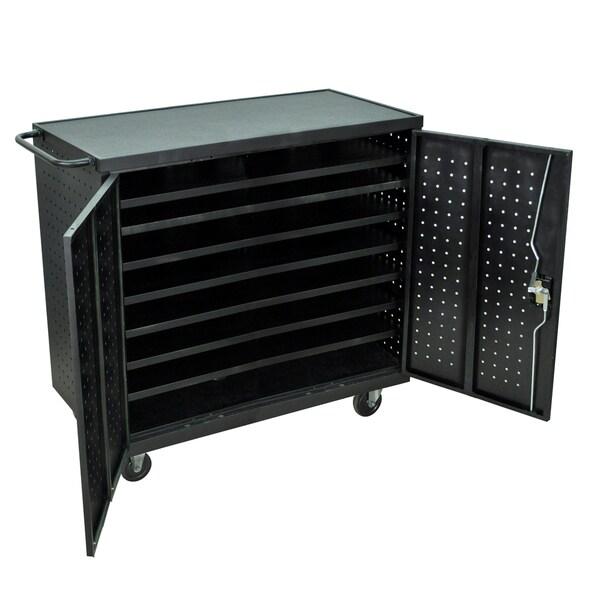 Luxor Black Steel Laptop Storage Center