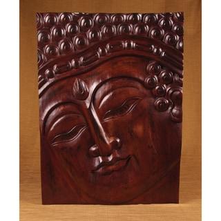Rectangle Teak Wood Band Buddha Panel (India)