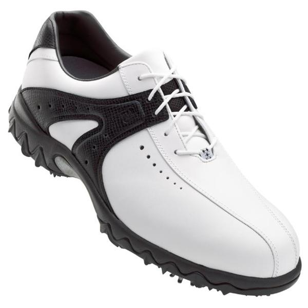 FootJoy Men's Contour Series Black and White Golf Shoes