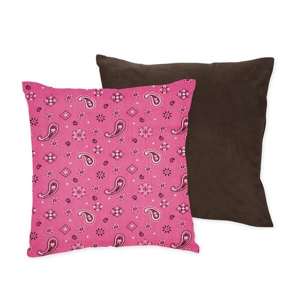 Sweet JoJo Designs Western Horse Cowgirl Decorative Throw Pillow