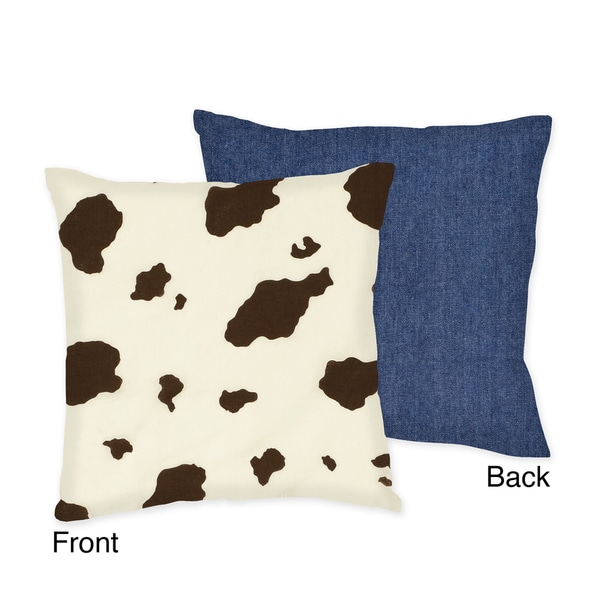 Sweet JoJo Designs Western Horse Cowgirl Throw Pillow