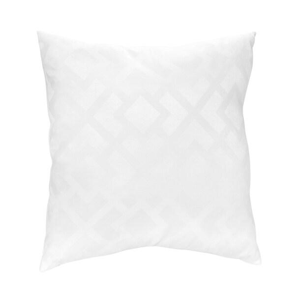 Sweet JoJo Designs White Diamond Jacquard Throw Pillow
