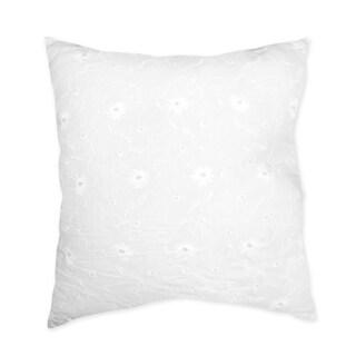 Sweet JoJo Designs White Eyelet Decorative Throw Pillow