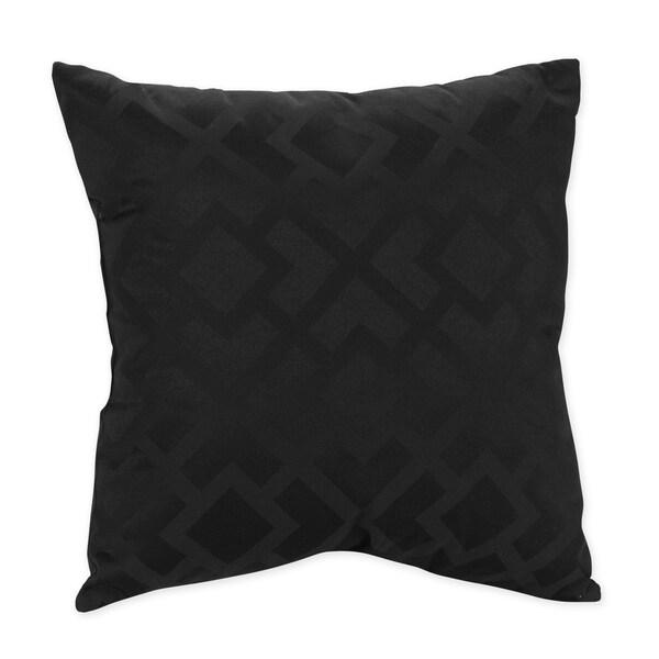 Sweet JoJo Designs Black Diamond Jacquard Throw Pillow