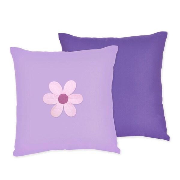 Sweet JoJo Designs Danielle's Daisies 16-inch Reversible Decorative Pillow