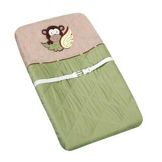 Sweet JoJo Designs Green Monkey Changing Pad Cover