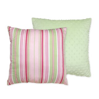 Sweet JoJo Designs Pink and Green Jungle Friends Decorative Throw Pillow