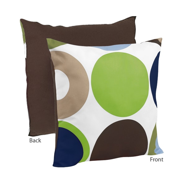 Sweet JoJo Designs Designer Dot Modern Decorative Throw Pillow - Brown