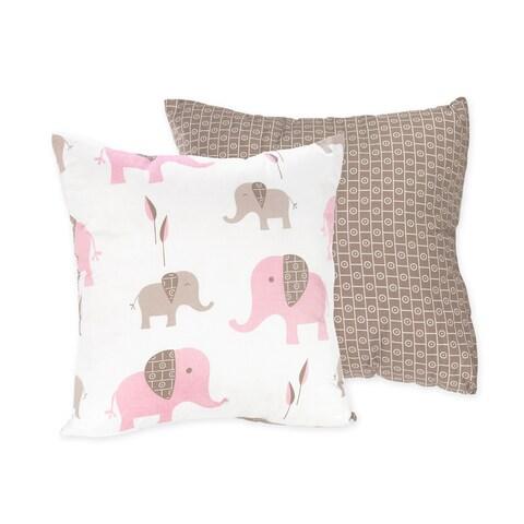 Sweet Jojo Designs Mod Elephant 16-inch Reversible Decorative Pillow