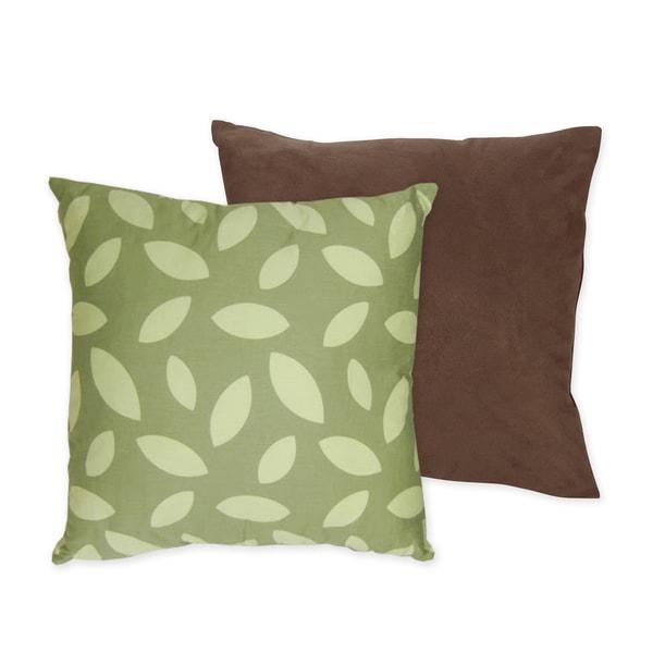 Sweet JoJo Designs Jungle Time Microsuede 16-inch Reversible Decorative Pillow