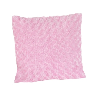 Sweet JoJo Designs Olivia Pink Swirl Minky 16-inch Decorative Pillow