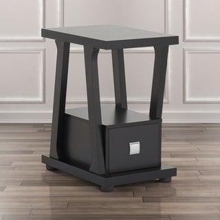 Furniture of America Naudine 1-drawer Black End Table