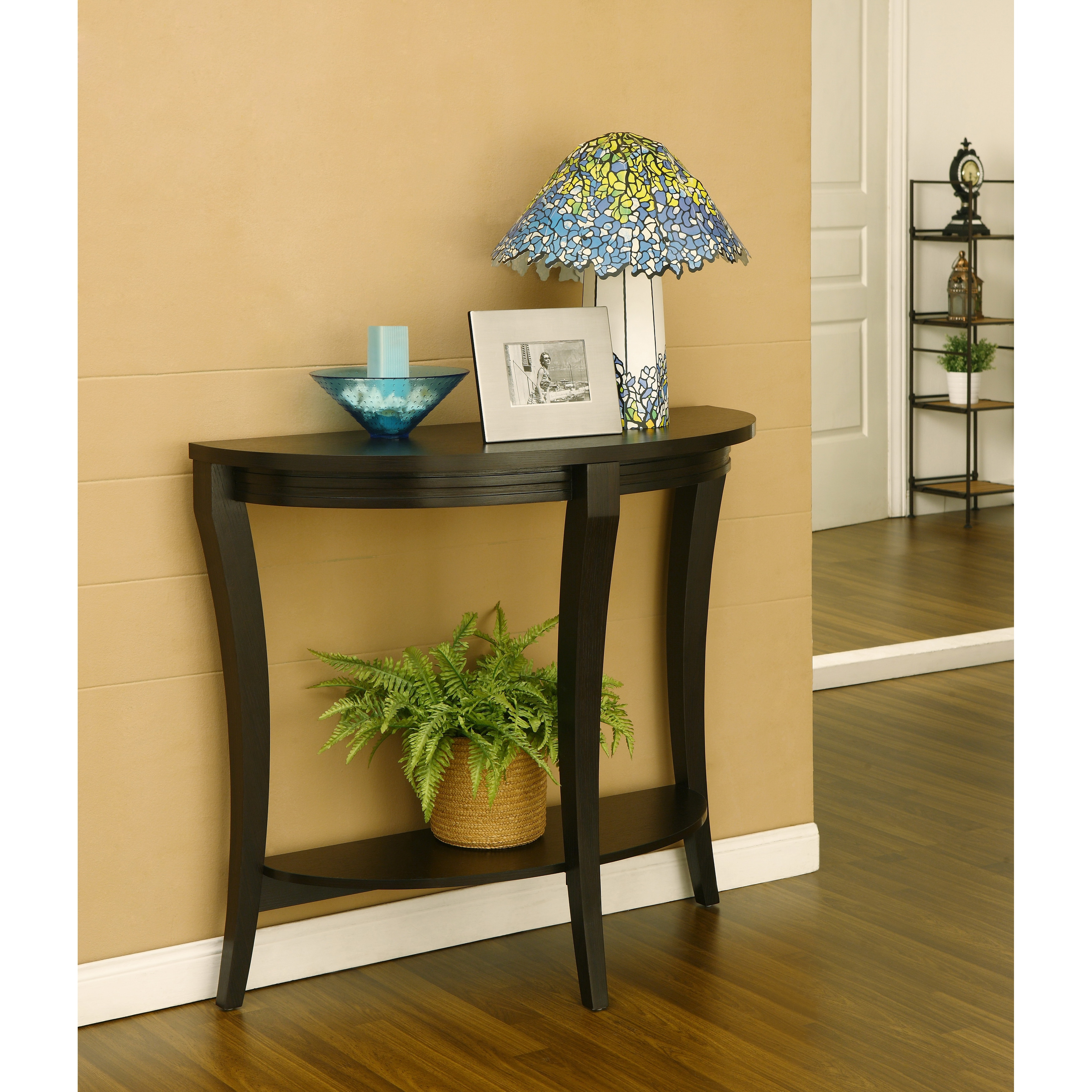 Furniture of America Renesme Half moon Sofa Table Free Shipping