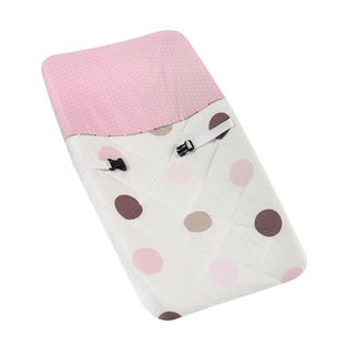 Sweet JoJo Designs Brown and Pink Mod Dots Changing Pad Cover