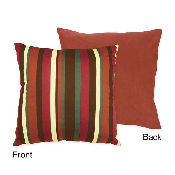 Sweet JoJo Designs 'Monkey' Reversible Stripe 16-inch Decorative Pillow