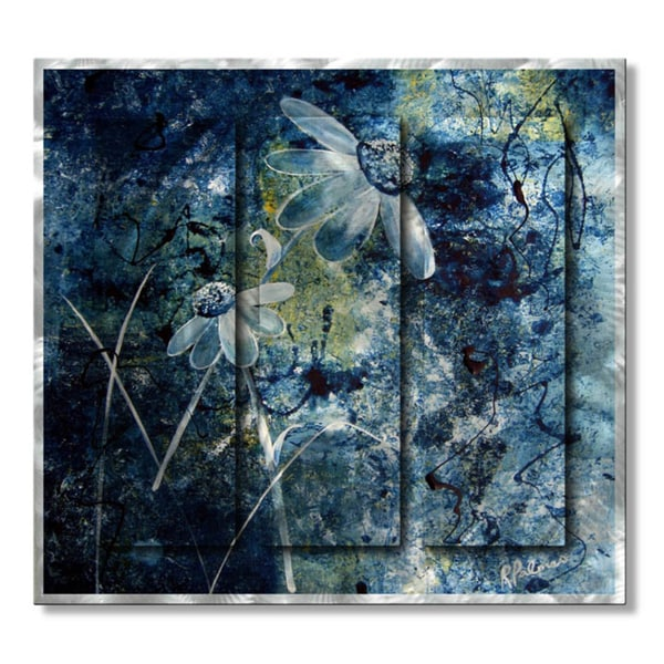 Ruth Palmer 'Blue Beauties' Metal Wall Art