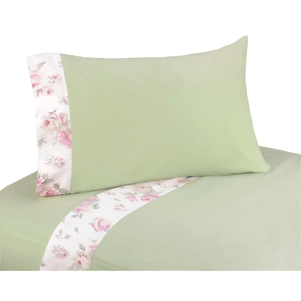 Sweet Jojo Designs 200 Thread Count Riley's Roses Twin Sheet Set