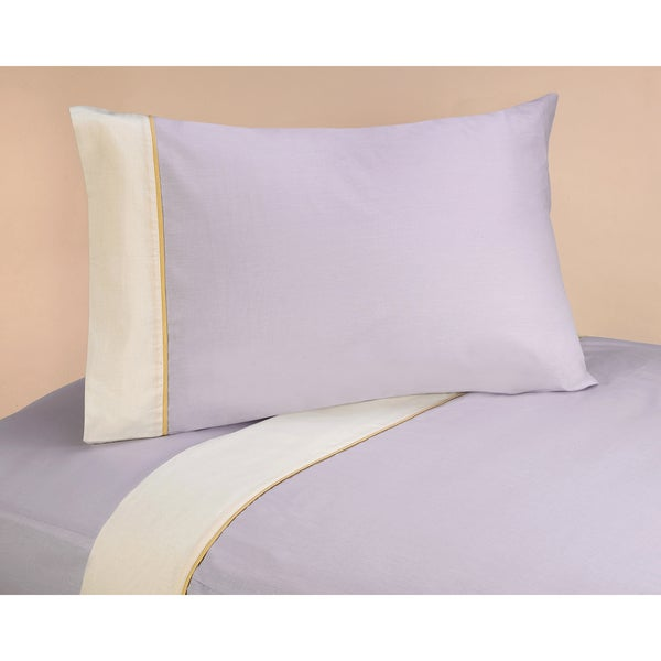 Sweet Jojo Designs 200 Thread Count Purple Dragonfly Dreams Twin Sheet Set