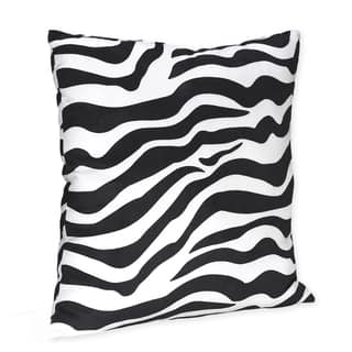 Sweet JoJo Designs Black/ White Zebra Print 16-inch Decorative Pillow|https://ak1.ostkcdn.com/images/products/7588594/7588594/Sweet-JoJo-Designs-Black-White-Zebra-Print-16-inch-Decorative-Pillow-P15014428.jpeg?impolicy=medium
