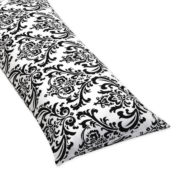Sweet Jojo Designs Damask Full Length Double Zippered Body Pillow Cover
