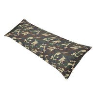 Sweet JoJo Designs Green Camo Full Length Double Zippered Body Pillow Case Cover