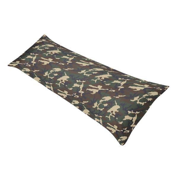 Full Body Pillow Case.Sweet Jojo Designs Green Camo Full Length Double Zippered Body Pillow Case Cover