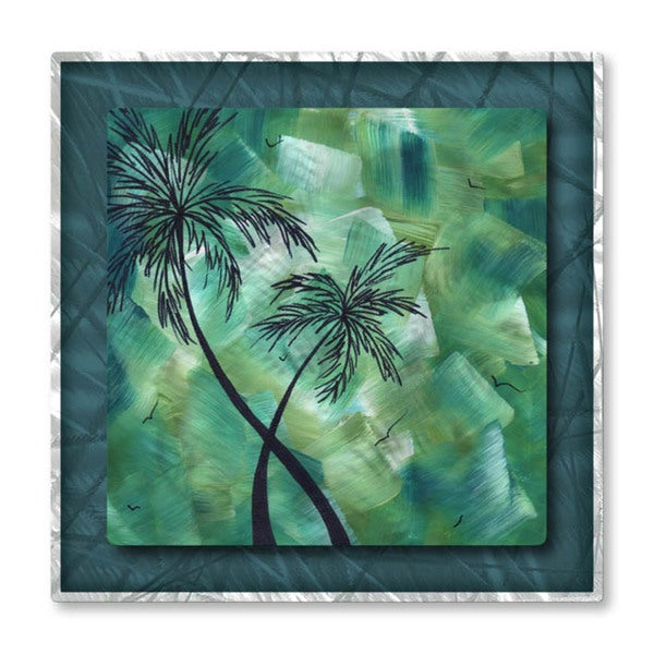 Megan duncanson 39 tropical dance iii 39 metal wall art free for Tropical metal wall art