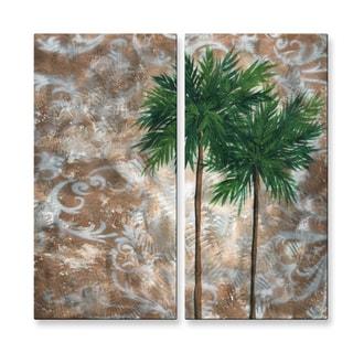Megan Duncanson 'Tropical Dance IV' Metal Wall Art