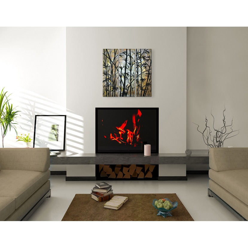 Home Decor Wall Sculptures Bamboo Shoots Abstract Metal Wall Art By