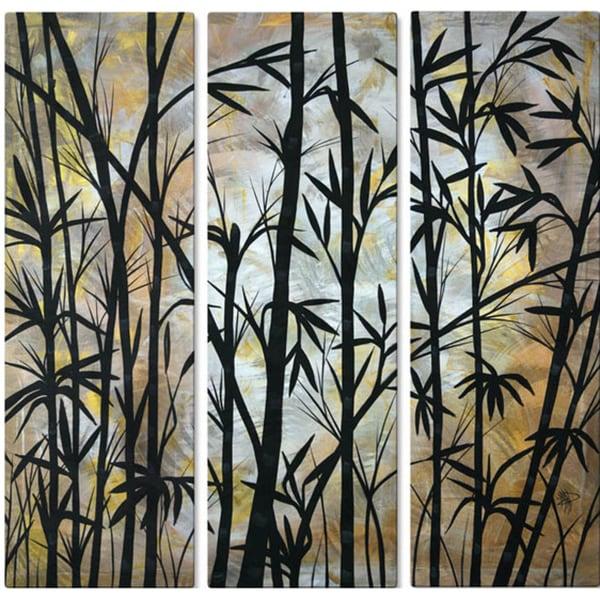Shop Megan Duncanson Bamboo Shoots Metal Wall Decor Free