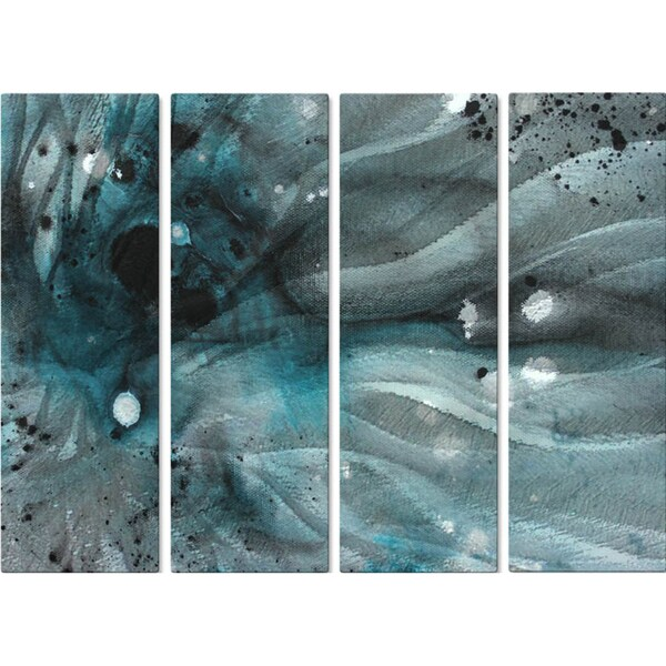 Overstock Wall Art megan duncanson 'turquoise ecstasy iv' metal wall art - free