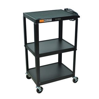 Offex Multi-purpose Height Adjustable Steel AV Utility Cart Table with LCD Mount