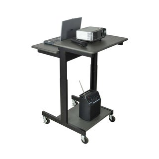 Offex Multimedia Mobile Height Adjustable Computer / Laptop Presentation Workstation Lectern Stand