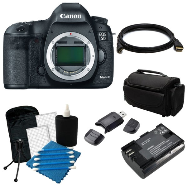 Canon EOS 5D Mark III 22.3MP Digital SLR Camera (Body Only) Bundle