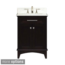 Water Creation Manhattan 24-inch Dark Espresso Single Sink Bathroom Vanity