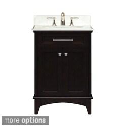 Water Creation Manhattan 24-inch Dark Espresso Single Sink Bathroom Vanity