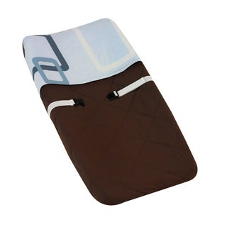 Sweet JoJo Designs Blue and Brown Geo Baby Changing Pad Cover