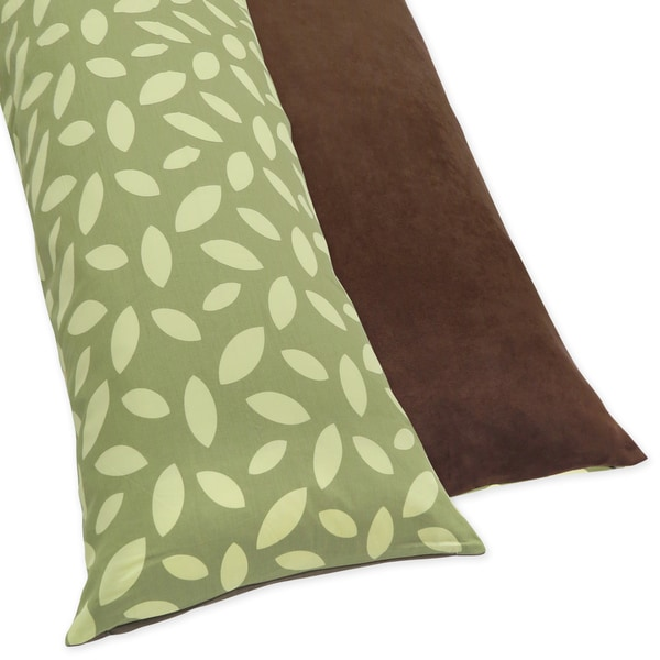 Sweet JoJo Designs Cotton Blend Jungle Time Full Length Double Zippered Body Pillow Case Cover