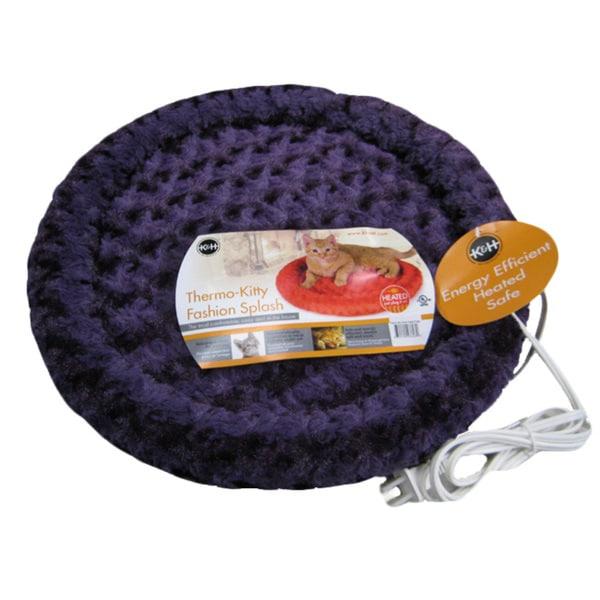 K&H Manufacturing Purple Heated Cat Bed