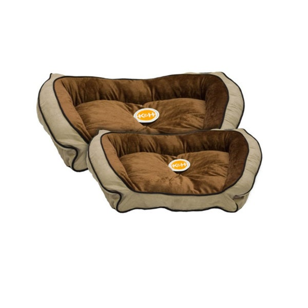 K&H Manufacturing Mocha/ Tan Bolster Couch