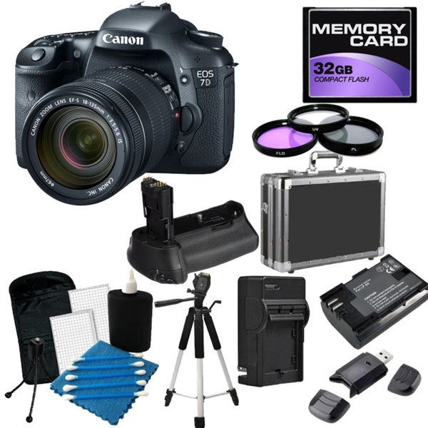 Canon EOS 7D 19MP Digital SLR Camera with 18-135 IS Lens Pro Bundle
