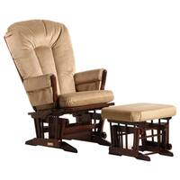 Dutailier Multi-position Reclining Colonial Glider and Ottoman Set